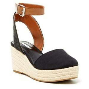 BCBGeneration Beacon Canvas Espadrille Wedge Shoe